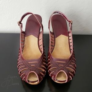 Shoes - Michael Kors heels 8.5 slingback peeptoe platform